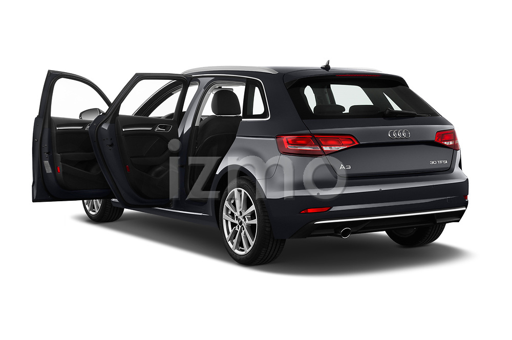 Car images close up view of a 2019 Audi A3 Sportsportback Sport 5 Door Hatchback doors