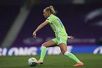 21st August 2020, San Sebastian, Spain;  Fridolina Rolfs of VfL Wolfsburg during the UEFA Womens Champions League football match Quarter Final between Glasgow City and VfL Wolfsburg.