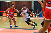 Jada Stinson (10) of Puerto Rico and Ezinne Kalu (23) of Nigeria pictured during a basketball game between Nigeria and Puerto Rico on Friday 28 th of May 2021 in Kortrijk , Belgium . PHOTO SPORTPIX.BE   SPP   STIJN AUDOOREN