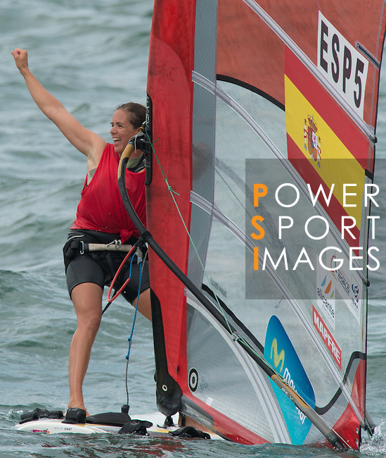 Marina Alabau from Spain   celebrating during the ISAF Sailing World Championships 2014 at the Real Club Maritimo of Santander on September 19, 2014 in Santander, Spain. Photo by Nacho Cubero / Power Sport Images