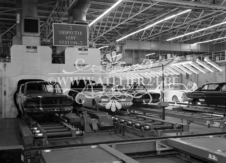 April 1967. Autofabriek van Ford in Genk.