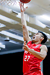 Tsai Choi Kwan #27 of SCAA Men's Basketball Team tries to score during the Hong Kong Basketball League game between Tycoon and SCAA at Southorn Stadium on May 23, 2018 in Hong Kong. Photo by Yu Chun Christopher Wong / Power Sport Images