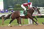 """Tizway with Rajiv Maragh make it look easy winning the Grade 1 Whitney Invitaional Handicap, a """"Win & You're In"""" Breeders Cup Challenge at 1 1/8 mile, for 3 year olds and up, at Saratoga Racetrack. Trainer H. James Bond. Owner Wlliam L. Clifton, Jr."""