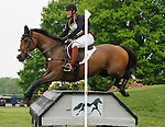 LEXINGTON, KY - APRIL 30: #76 Dunlavin's Token and Bobby Meyerhoff compete in the Cross Country Test for the Rolex Kentucky 3-Day Event at the Kentucky Horse Park.  April 30, 2016 in Lexington, Kentucky. (Photo by Candice Chavez/Eclipse Sportswire/Getty Images)