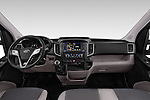 Stock photo of straight dashboard view of 2015 Hyundai H350 Travel Plus Pack 4 Door Cargo Van 2WD Dashboard