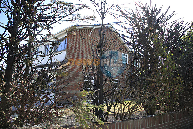 the aftermath of the fire attack on a serving member of AGS in the bay estate in Dundalk Co. Louth.<br /> <br /> Picture Fran Caffrey/Newsfile