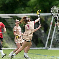 NEWTON, MA - MAY 14: Annie Walsh #3 of Boston College scores during NCAA Division I Women's Lacrosse Tournament first round game between Fairfield University and Boston College at Newton Campus Lacrosse Field on May 14, 2021 in Newton, Massachusetts.