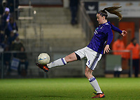 20180126 - OOSTAKKER , BELGIUM : Anderlecht's Tine De Caigny pictured during the quarter final of Belgian cup 2018 , a womensoccer game between KAA Gent Ladies and RSC Anderlecht , at the PGB stadion in Oostakker , friday 27 th January 2018 . PHOTO SPORTPIX.BE   DAVID CATRY