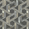 Hector, a stone waterjet mosaic, shown in Cashmere honed and Warm Grey glass honed, is part of the Altimetry® collection for New Ravenna.