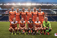 Bridgeview, IL - Saturday July 23, 2016:  Houston Dash starting XI during a regular season National Women's Soccer League (NWSL) match between the Chicago Red Stars and the Houston Dash at Toyota Park.