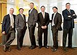December 8, 2011.   TUCC.  5 of 6 docs group portrait.  Photo by Ellen Jaskol.