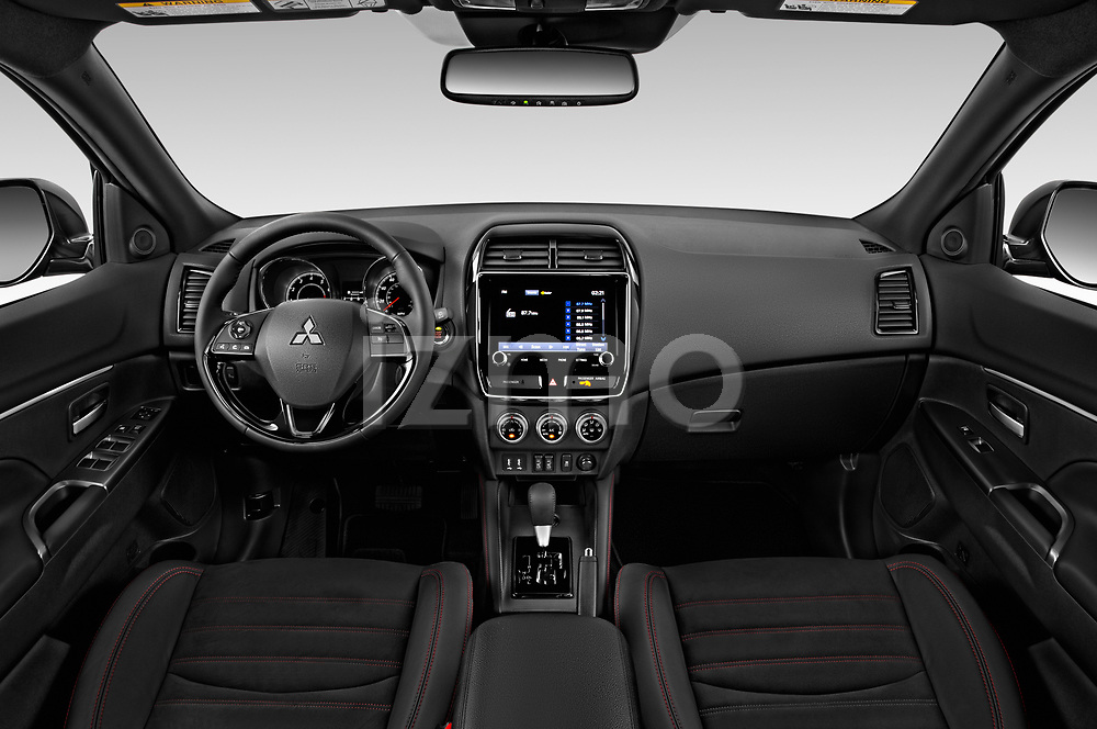 Stock photo of straight dashboard view of a 2020 Mitsubishi Outlander Sport GT 5 Door SUV