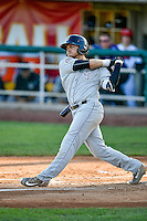 Cole Anderson (24) of the Grand Junction Rockies at bat against the Orem Owlz in Pioneer League action at Home of the Owlz on July 7, 2016 in Orem, Utah. The Owlz defeated the Rockies 15-3. (Stephen Smith/Four Seam Images)