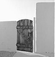 Wooden door slightly ajar<br />