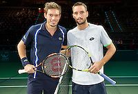 Rotterdam, The Netherlands, February 12, 2016,  ABNAMROWTT, Nicolas Mahut (FRA), Viktor Troicki (SBR)<br /> Photo: Tennisimages/Henk Koster