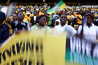 African National Congress (ANC) supporters at the party's final Siyanqoba (victory) rally held at the Ellis Park Stadium in Johannesburg before the 2009 general election.