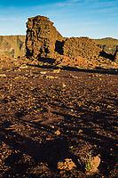 France, île de la Réunion, Parc national de La Réunion, classé Patrimoine Mondial de l'UNESCO, La Plaine des Cafres, La Plaine des Sables, paysage désertique et lunaire   // France, Reunion island (French overseas department), Parc National de La Reunion (Reunion National Park), listed as World Heritage by UNESCO, La Plaine des Cafres, La Plaine des Sables, lunar desert landscape