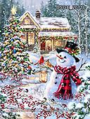 Dona Gelsinger, CHRISTMAS SANTA, SNOWMAN, WEIHNACHTSMÄNNER, SCHNEEMÄNNER, PAPÁ NOEL, MUÑECOS DE NIEVE, paintings+++++,USGE2011B,#x#