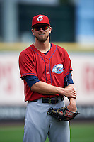 Columbus Clippers pitcher Trey Haley (36) in the bullpen during a game against the Buffalo Bisons on July 19, 2015 at Coca-Cola Field in Buffalo, New York.  Buffalo defeated Columbus 4-3 in twelve innings.  (Mike Janes/Four Seam Images)