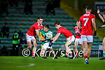 Tommy Walsh, Cork Shane Kingston, Cork in action against Thomas O'Donnell, Kerry during the Munster Minor Semi-Final between Kerry and Cork in Austin Stack Park on Tuesday evening.