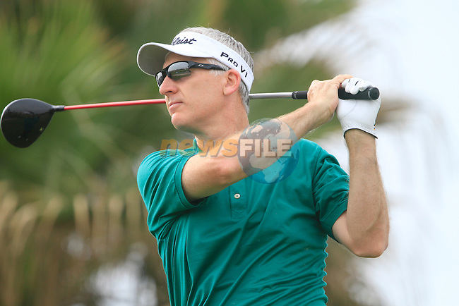 Phillip Price (WAL) in action on the 8th tee during Day 2 Friday of the Open de Andalucia de Golf at Parador Golf Club Malaga 25th March 2011. (Photo Eoin Clarke/Golffile 2011)