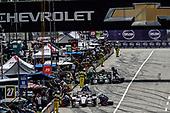 Verizon IndyCar Series<br /> Chevrolet Detroit Grand Prix Race 2<br /> Raceway at Belle Isle Park, Detroit, MI USA<br /> Sunday 4 June 2017<br /> Ed Jones, Dale Coyne Racing Honda pit stop<br /> World Copyright: Michael L. Levitt<br /> LAT Images