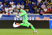 Harrison, NJ - Thursday Sept. 15, 2016: Oscar Arroyo Pena during a CONCACAF Champions League match between the New York Red Bulls and Alianza FC at Red Bull Arena.