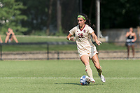 NEWTON, MA - SEPTEMBER 12: Sarai Costello #28 of Boston College brings the ball forward during a game between Holy Cross and Boston College at Newton Campus Soccer Field on September 12, 2021 in Newton, Massachusetts.