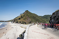 peloton by the seaside<br /> <br /> Stage 14: San Vicente de la Barquer to Oviedo (188km)<br /> La Vuelta 2019<br /> <br /> ©kramon