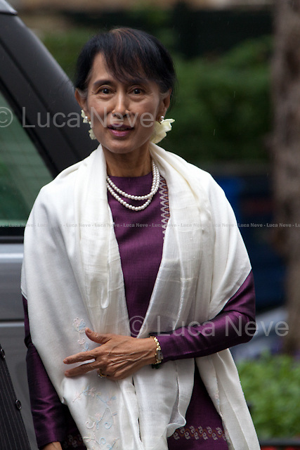 Aung San Suu Kyi - 2012<br /> <br /> London, 21/06/2012. Aung San Suu Kyi (Burmese opposition politician and General Secretary of the National League for Democracy - NLD in Burma) meets the British Prime Minister David Cameron at 10 Downing Street.
