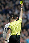 Referee Sanchez Martinez shows yellow card to Real Madrid CF's Carlos Henrique Casemiro during the King's Cup semifinals match. February 27,2019. (ALTERPHOTOS/Alconada)