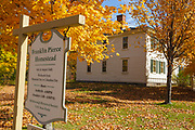 Franklin Pierce Homestead State Historic Site in Hillsborough, New Hampshire during the autumn months. This homestead was built in 1804, and it was the boyhood home of Franklin Pierce, the 14th President of the United States (1853-1857).