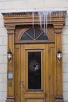 Amérique/Amérique du Nord/Canada/Québec/ Québec: DSétail portes des maisons de la Ville-Haute