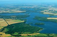 Schaalsee, Schaalsee-Region, Luftaufnahme, Luftbild, Schleswig-Holstein, Deutschland