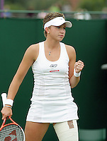 26-6-07,England, Wimbldon, Tennis, Michaella Krajicek plaatst zich voor de tweede ronde