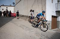 Marc Soler (ESP/Movistar) rolling back towards the teambusses after the stage<br /> <br /> Stage 6: Mora de Rubielos to Ares del Maestrat (199km)<br /> La Vuelta 2019<br /> <br /> ©kramon