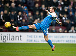 Hearts v St Johnstone…03.02.18…  Tynecastle…  SPFL<br />Chris Kane' shot is saved<br />Picture by Graeme Hart. <br />Copyright Perthshire Picture Agency<br />Tel: 01738 623350  Mobile: 07990 594431