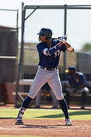 Milwaukee Brewers first baseman Ernesto Wilson Martinez (97) at bat during an Instructional League game against the San Diego Padres on September 27, 2017 at Peoria Sports Complex in Peoria, Arizona. (Zachary Lucy/Four Seam Images)