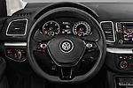 Car pictures of steering wheel view of a 2016 Volkswagen Sharan Confortline 5 Door Minivan Steering Wheel