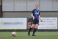 Raquel Viaene (5) of Club Brugge  pictured during a female soccer game between SV Zulte - Waregem and Club Brugge YLA on the 13 th matchday of the 2020 - 2021 season of Belgian Scooore Womens Super League , saturday 6 th of February 2021  in Zulte , Belgium . PHOTO SPORTPIX.BE | SPP | DIRK VUYLSTEKE