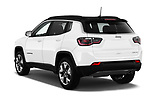 Car pictures of rear three quarter view of a 2017 Jeep Compass Limited 5 Door SUV angular rear