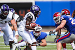 TCU Horned Frogs running back B.J. Catalon (23) in action during the game between the TCU Horned Frogs and the SMU Mustangs at the Gerald J. Ford Stadium in Fort Worth, Texas. TCU defeats SMU 56 to 0.