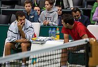 Rotterdam, The Netherlands. 16.02.2014.  Jean-Julien Rojer(NED)/Horia Tecau(ROE)  ABN AMRO World tennis Tournament<br /> Photo:Tennisimages/Henk Koster