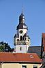 Kirchturm der barocken Evangelischen Kirche in Ober-Saulheim