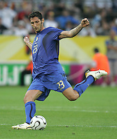 Marco Materazzi.  Italy defeated Germany, 2-0, in overtime in their FIFA World Cup semifinal match at FIFA World Cup Stadium in Dortmund, Germany, July 4, 2006.