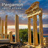 Pergamon Ancient Archaeological site Pictures Photos & images