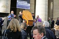 PARIS , EGLISE SAINT PIERRE DU GROS CAILLOU LE 14 / 03 / 2017<br /> OBSEQUES DE PIERRE BOUTEILLER .