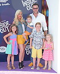 Tori Spelling and Dean McDermott with their children  attends The Disney Pixar L.A. Premiere of Inside Out held at The El Capitan Theatre  in Hollywood, California on June 08,2015                                                                               © 2015 Hollywood Press Agency