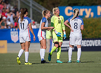 Cary, NC - October 22, 2017: The USWNT defeated South Korea 6-0 during an international friendly at WakeMed Soccer Park.