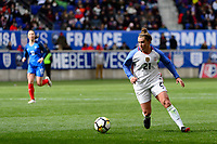 Harrison, NJ - Sunday March 04, 2018: Savannah McCaskill during a 2018 SheBelieves Cup match match between the women's national teams of the United States (USA) and France (FRA) at Red Bull Arena.
